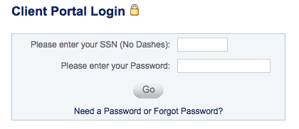 Link to password reset page